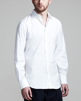 DSquared2 Dean & Dan Stretch Poplin Shirt, White