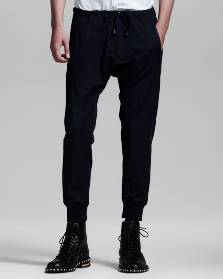 Athletic Nonno Pants, Navy