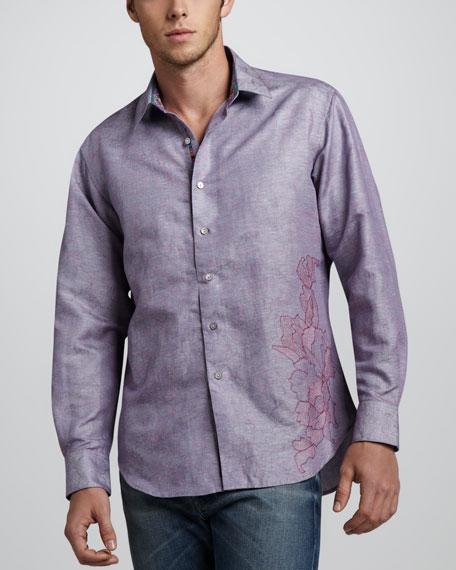 Ebb Side Long-Sleeve Sport Shirt