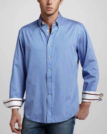 Tanjung Long-Sleeve Sport Shirt, Blue