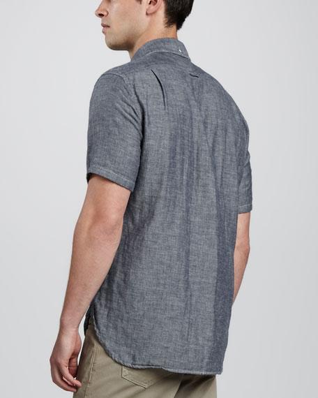 Short-Sleeve Button-Down Oxford Shirt