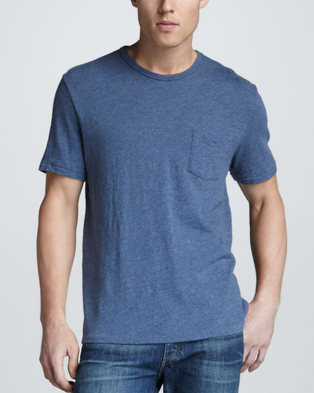 Basic Pocket Tee, Blue