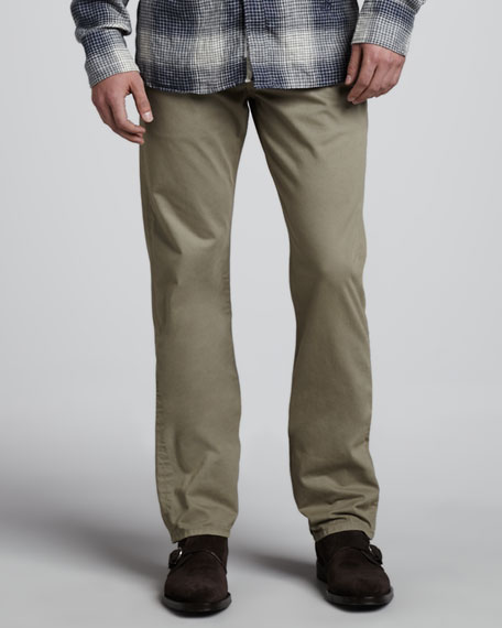 Brushed Desert Straight-Leg Pants