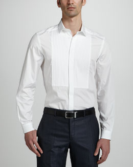 Versace Collection Long-Sleeve Dress Shirt, White