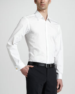 Versace Collection Tuxedo Shirt, White