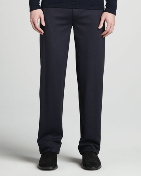 Drawstring Sweatpants, Navy
