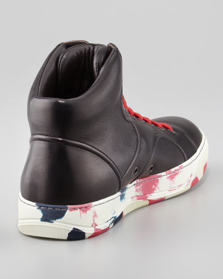 High-Top Camouflage Sneaker, Black/Red