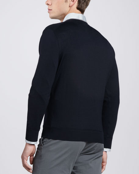 V-Neck Sweater, Navy