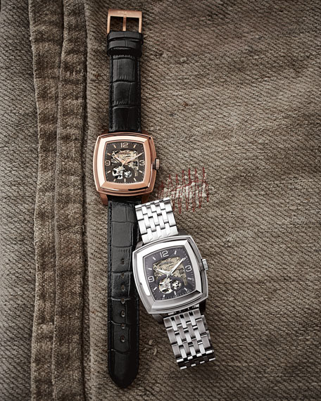 Orchestra Square Automatic Skeleton Watch