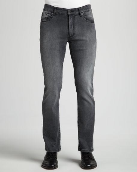 Trend-Fit Denim Jeans, Gray