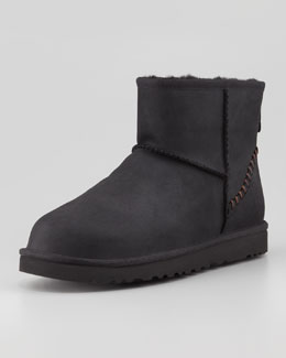 UGG Australia Classic Mini Deco Boot, Black