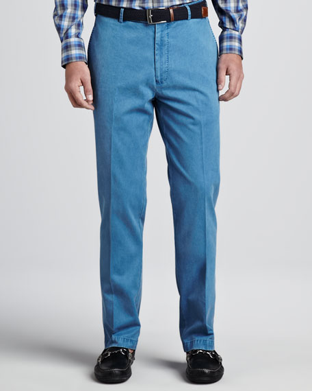Washed Raleigh Pants, Marina Blue
