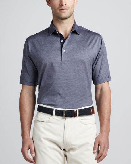Demarin Striped Polo, Patriot Navy
