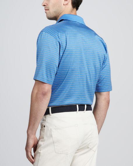 Richardson Striped Polo, Marina Blue
