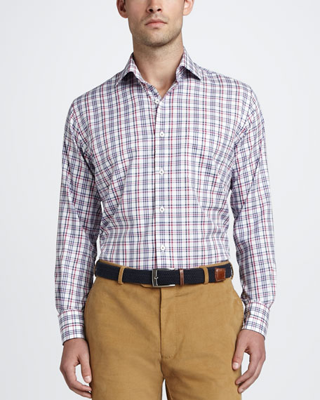 Tattersall Oxford Sport Shirt, Multi