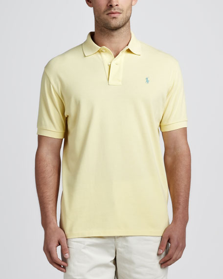 Short-Sleeve Pique Polo, Corn