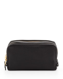 Tom Ford Double-Zip Toiletry Bag, Black