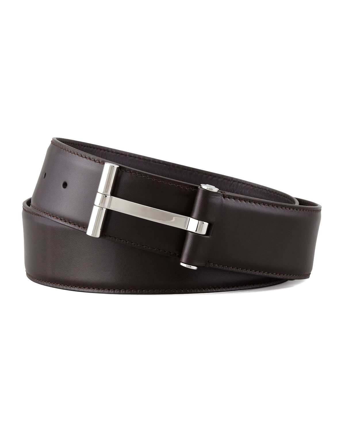 463170229fa1 TOM FORD Men s Leather T-Buckle Belt