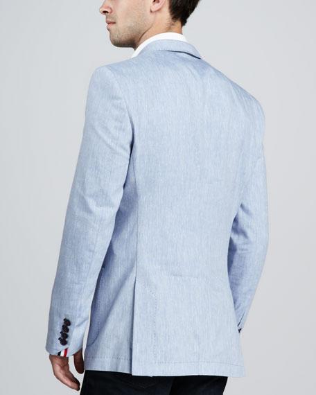 Lino Two-Button Blazer, Light Blue