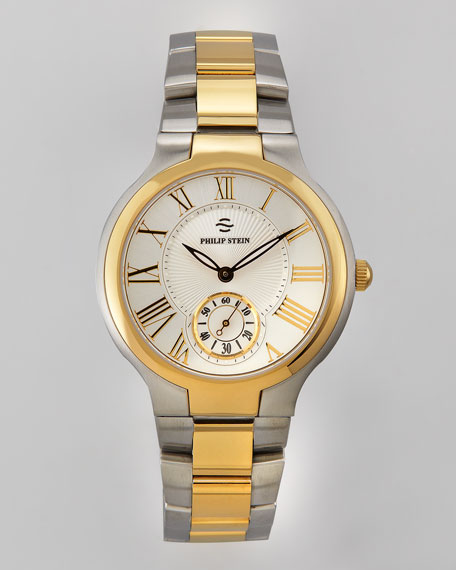 40mm Round Two-Tone Bracelet Watch