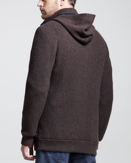 Hooded Toggle Sweater Jacket