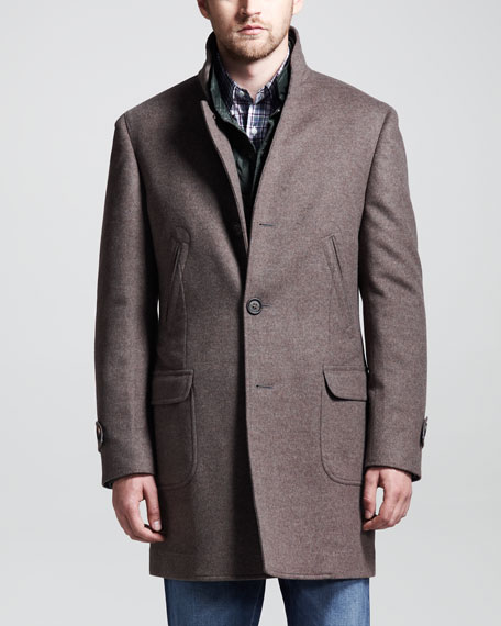 Martin Single-Breasted Coat, Otter