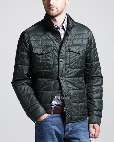 Thermal Milano Shirt Jacket, Green