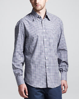 Brunello Cucinelli Basic Check Button-Down Shirt