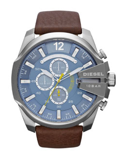 Diesel Mega Chief Chronograph, Blue/Silver