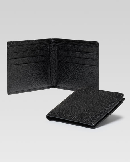 Soho Leather Bi-Fold Wallet, Black