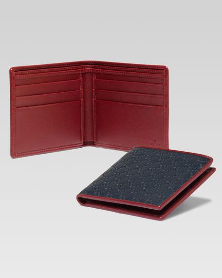 9a943e663a4 Gucci Microguccissima Leather Bi-Fold Wallet