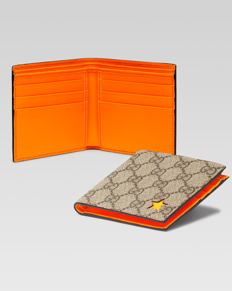 Micro-GG Supreme Stars Canvas Bi-Fold Wallet