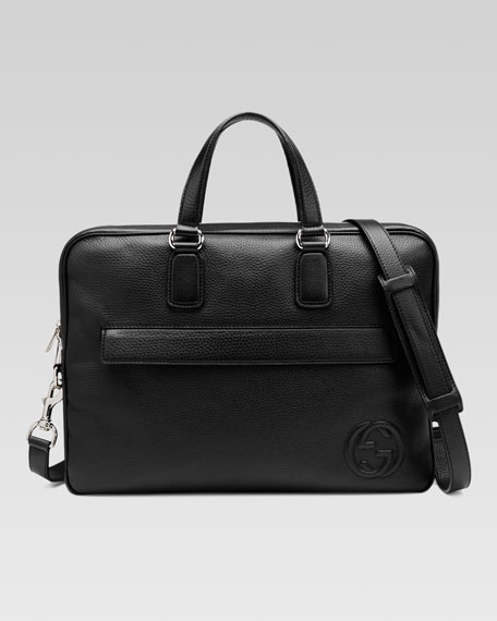 Gucci Soho Leather Briefcase, Black