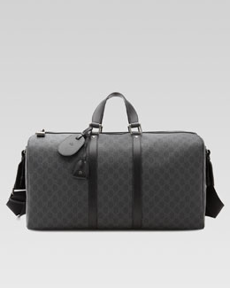 Gucci GG Supreme Canvas Large Carry-On Duffel Bag, Black