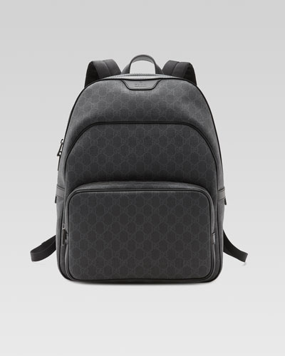 GG Supreme Canvas Backpack, Black