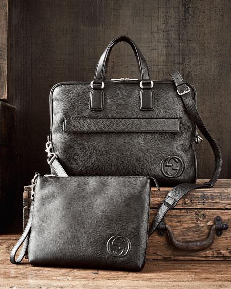 Soho Leather Travel Case, Black