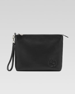 Gucci Soho Leather Travel Case, Black