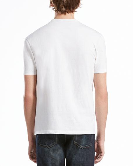 Short-Sleeve Logo Jersey Tee, Soft White/Navy