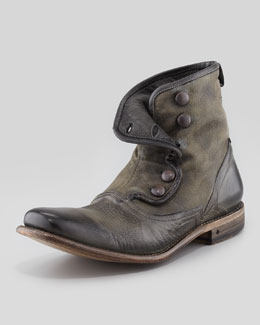 John Varvatos Bowery Button Boot, Gray