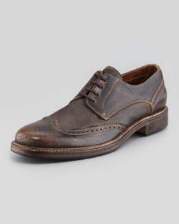 John Varvatos College Leather Wing-Tip, Brown