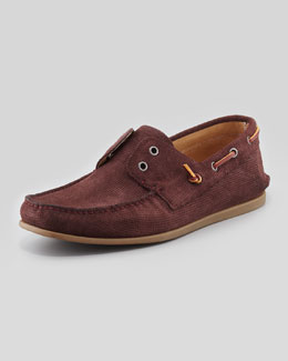 John Varvatos Star USA Schooner Boat Shoe, Burgundy