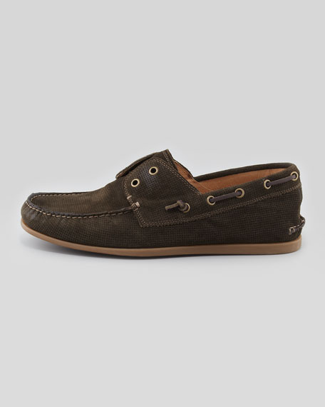 Schooner Leather Boat Shoe, Gray