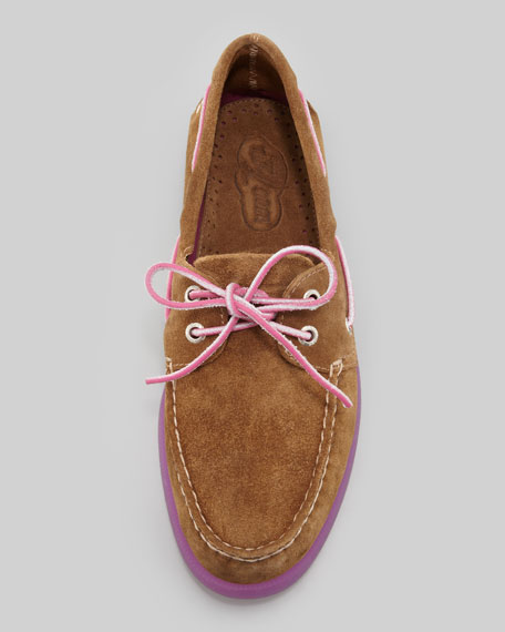 Authentic Original Boat Shoe, Tan/Magenta