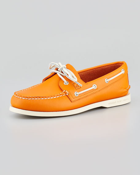 Sider Authentic Original Boat Shoe, Orange