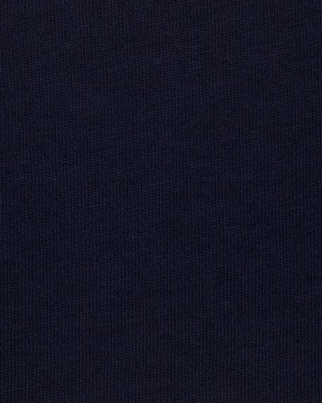Jersey V-Neck Long-Sleeve Tee, Navy