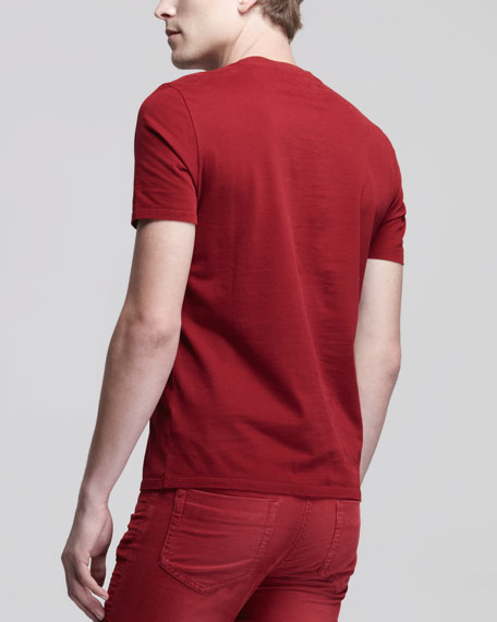 Short-Sleeve Jersey Tee, Red