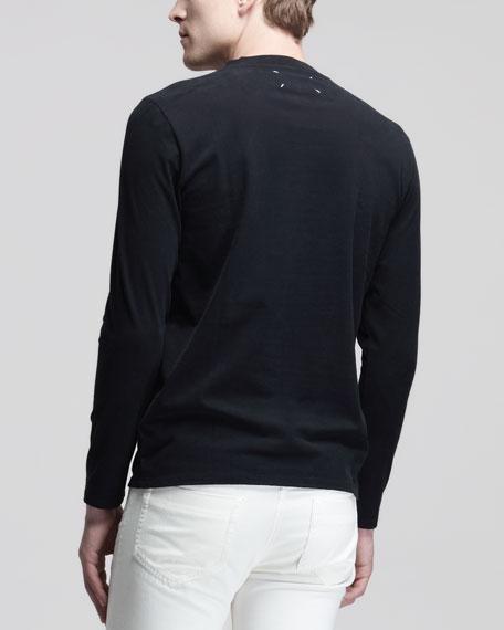 Long-Sleeve Jersey Tee, Black