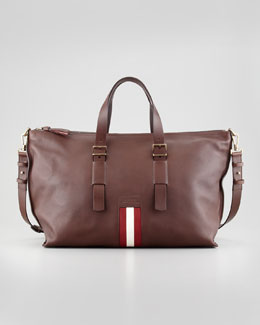 Bally Boskar Men's Stripe Duffle Bag, Brown