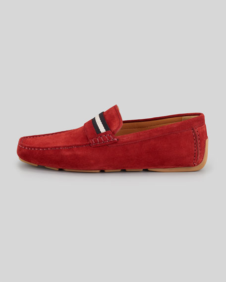 Wabler Suede Driver, Red
