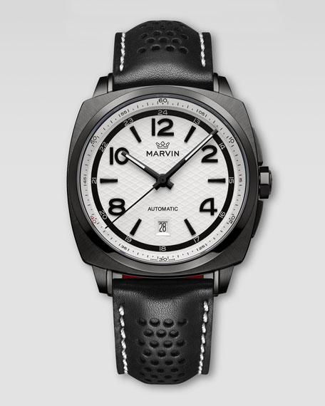 Malton 160 Watch, Black/White